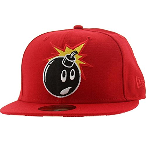 The Hundreds Adam Stripes New Era Fitted Cap (red)