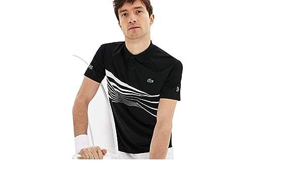 Lacoste Novak Djokovic Polo Men Black: Amazon.es: Deportes y aire ...