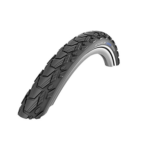 Schwalbe Marathon Cross HS 470 SpeedGrip Cross/Hybrid Bicycle Tire - Wire Bead (Black-Reflex - 28 x 1.50) - Schwalbe Marathon Cross