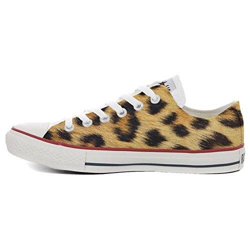 leopard All Handwerk Slim Schuhe Converse Customized personalisierte Schuhe Star Low HUxwaR