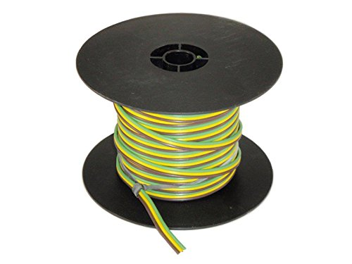 3-Wire Bonded Parallel - Brown/Green/Yellow - 100 Feet - 16 Gauge ()