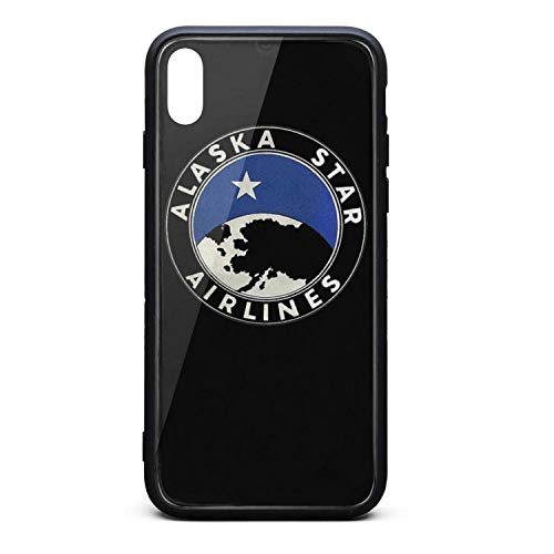 Alaska Star Airlines Return Logo Phone Case for iPhone X/XS TPU Gel Full Body Protection Cool Anti-Scratch Fashionable Glossy Anti Slip Thin Shockproof Soft Case