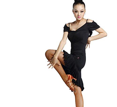 Latin dance dress dance clothes Tango dress Cha Cha dress black S