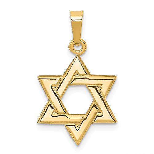 14k Yellow Gold Jewish Jewelry Star Of David Pendant Charm Necklace Religious Judaica Fine Jewelry Gifts For Women For Her