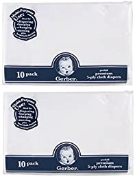 Gerber 20 Count Prefold Gauze Cloth Diapers, White BOBEBE Online Baby Store From New York to Miami and Los Angeles