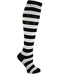 Knee High Socks For Teens & Women Solids/Patterns (Assorted Colors)