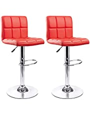 SK Depot™ High Back Swivel Adjustable Black PU Leather Bar Stool Pub Chair, with Backrest & Footrest/Back Foot Rest