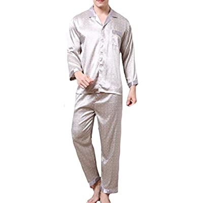 Abetteric Men Charmeuse Oversized Soft Plush Homewear Sleepwear Set for sale