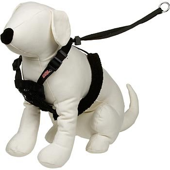 Yuppie Puppy Non-Pull Mesh Harness, Large / XL – Black, My Pet Supplies
