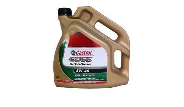Aceite lubricante para coche Castrol Edge Turbo Diesel 5W40 4 litros: Amazon.es: Coche y moto
