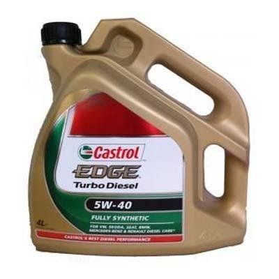 Aceite lubricante para coche Castrol Edge Turbo Diesel 5W40 4 litros