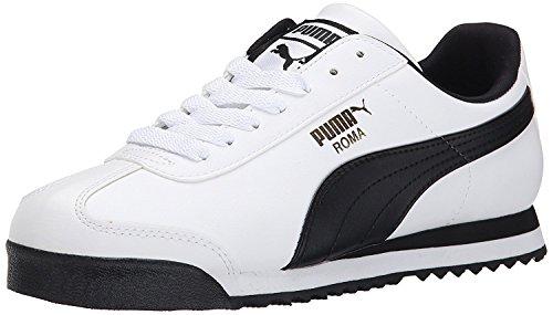 Puma MenS Roma Basic Sneaker, Multicolor - White-Black, 44.5 D(M) EU/10 D(M) UK