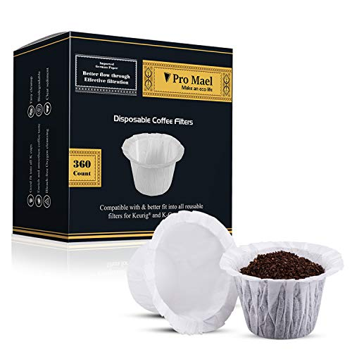 Disposable Coffee Filters 360 Counts Coffee Filter Paper for Keurig Brewers Single Serve 1.0 and 2.0 Use with All Brands K Cup Filter (1)