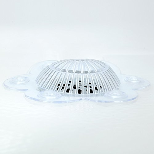 """SlipX Solutions Stop-A-Clog Drain Protectors Keep Hair Out of Drains! 2 Hair Catchers Per Package. (Clear, Plastic, 5"""" Diameter)"""