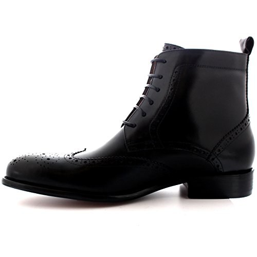 ala Completo Hombre Oxfords Gorra Cuero Verdadero De Zapatos Botas Negro Tobillo Smith Queensbury I8qxHwCH