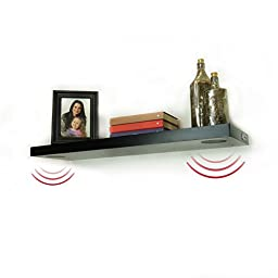 Lewis Hyman 9501118 StudioSync Wireless Bluetooth or USB Speaker Shelf with Two Speakers, 35.4\