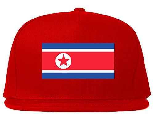 130eed542334a9 North Korea Flag Country Printed Snapback Hat Cap Red - Buy Online ...