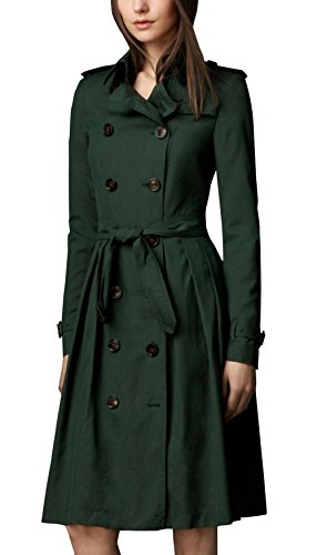 Superwoman Costume Uk (Mission Impossible 5 Rebecca Ferguson Dress Costume Green Wool Trench Outwear Coat For Womens XL)