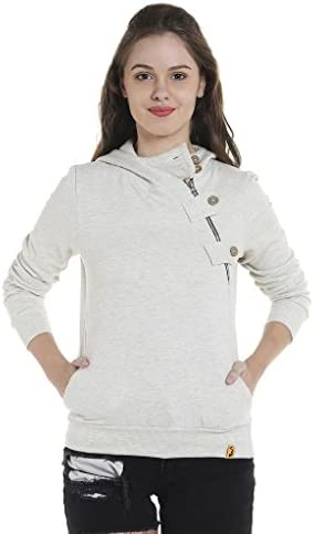 Campus Sutra Women's Cotton Hooded Sweatshirt