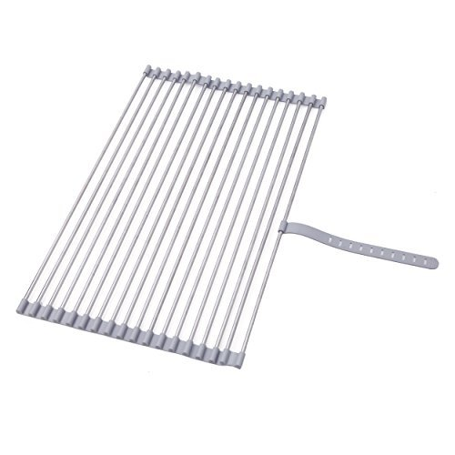 (Stainless Steel Roll-up Folding Drying Rack Colander 20.5