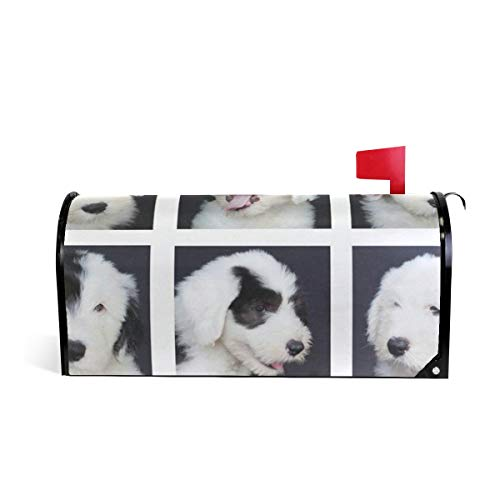 Dog Photo Pattern Magnetic Mailbox Cover Letter Box Cover Colorful Painting Garden Outdoor Decorations - 20.8x18 Inch Standard Size ()