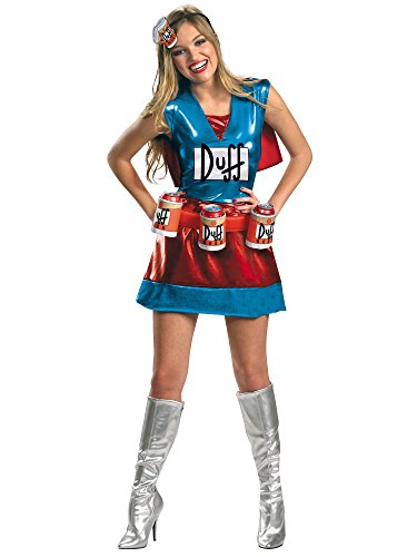 Disguise Unisex Adult Deluxe Duffwoman, Multi, Medium (8-10) Costume -