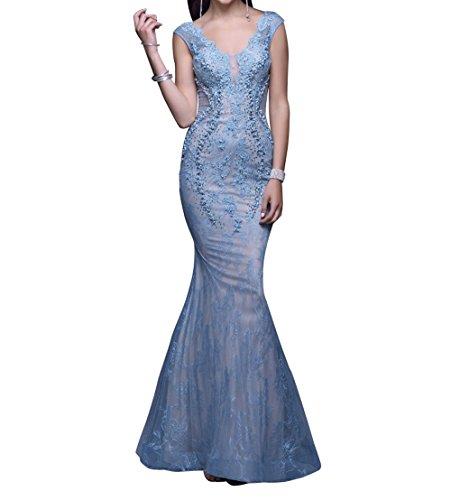 31f66d35d37c La Marie Braut Lawender Spitze Kurzarm Perlen Abendkleider Ballkleider  Partykleider Tanzenkleider Lang SVvHIO