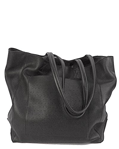 Dorrarium Top-Grain Soft Leather Tote Bag with Matching Pouch | Soft and Large Designer Shoulder Bag (Large Textured Leather Tote)