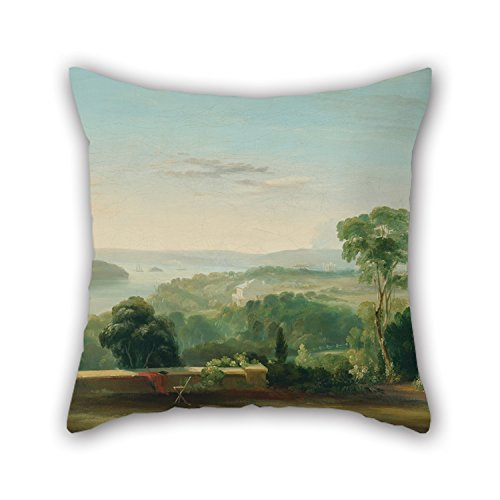 Artistdecor Oil Painting Conrad Martens - View From Rose Bank Throw Christmas Pillow Case 20 X 20 Inches / 50 By 50 Cm Gift Or Decor For Floor Teens Girls Couch Drawing Room Son Seat - Each Side