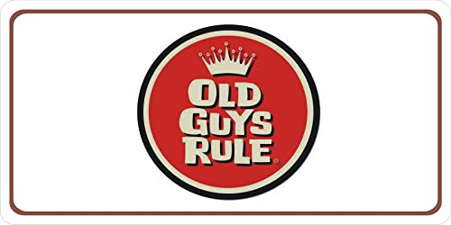 Old Guys Rule Photo License - License Rule Plates