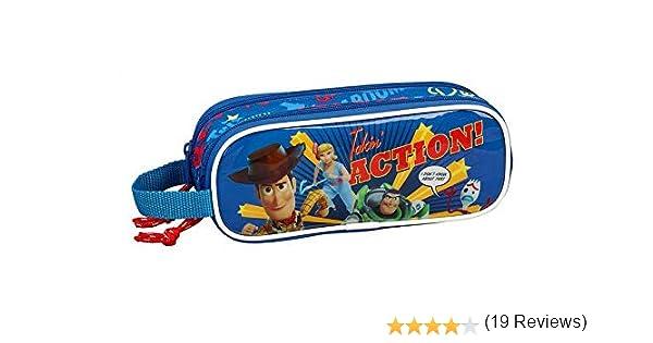 Toy Story 4 Estuche portatodo Doble 2 Cremalleras Escolar, Azul Marino, Unica: Amazon.es: Equipaje