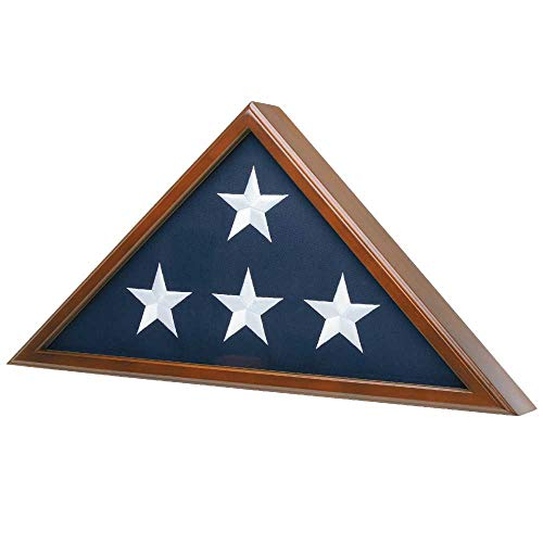 Medals of America Flag Case for American Veteran Burial Flag 5' x 9.5', Cherry Finish S