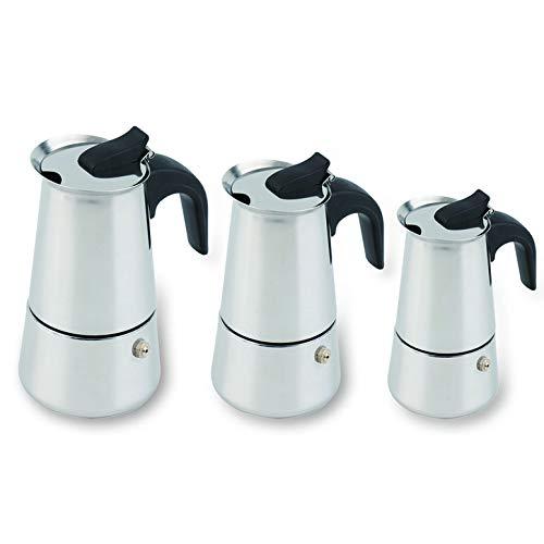 Lynn025Keats 2//4//6-Cup Percolator Stove Top Coffee Maker Moka Espresso Latte Stainless Pot