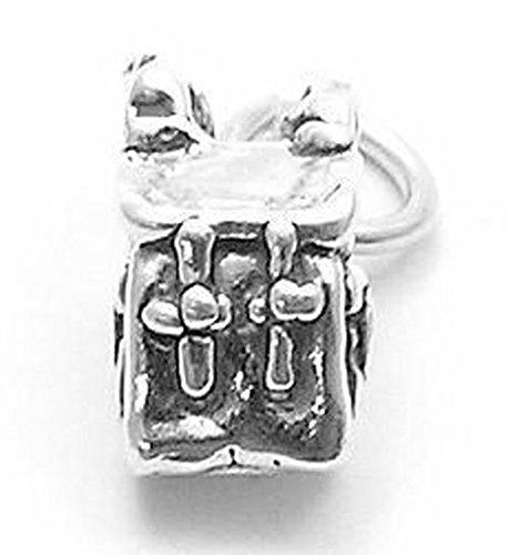 Sandra Creative Design Silver-tone 3D Backpack Charm (Michael Bracelet Charm Jackson)