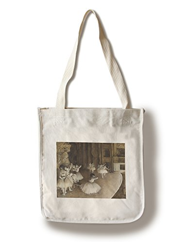 Ballet Rehearsal on Stage - Masterpiece Classic - Artist: Edgar Degas c. 1874 (100% Cotton Tote Bag - Reusable) (Ballet Bag Degas)