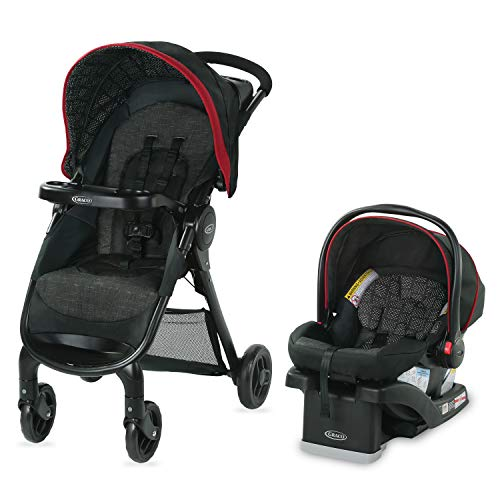Graco FastAction SE Travel System | Includes FastAction SE Stroller and SnugRide 30 LX Infant Car Seat, Hilt