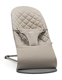 BABYBJORN Cotton Bouncer Bliss, Sand Grey BOBEBE Online Baby Store From New York to Miami and Los Angeles