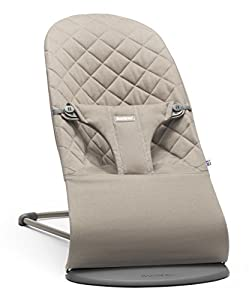 BABYBJORN Cotton Bouncer Bliss, Sand Grey