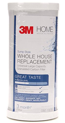 3M 4WH-HDGAC-F01H Large Capacity Whole House Carbon Water Filter - Universal Fit - Fits Most Major Brand Water Filtration Systems by 3M (Image #1)