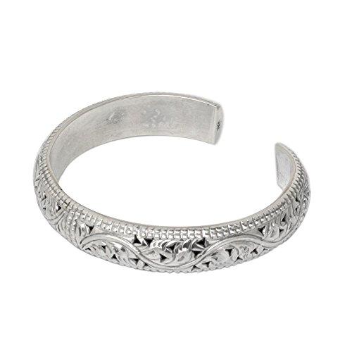 NOVICA .925 Sterling Silver Ivy Motif Cuff Bracelet 'Ivy Garland', - Bracelet Sterling Cuff Delicate