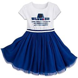 Disney Parks Star Wars R2-D2 Girls Child Dress R2D2 Inspired (Medium-7/8)