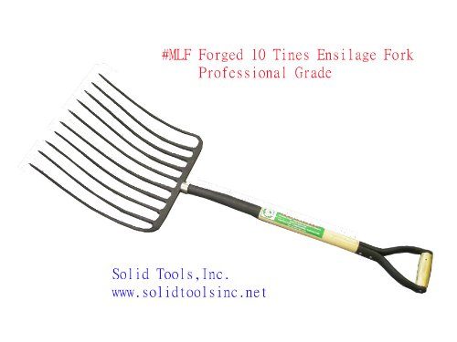 10 Tines Forged Ensilage Fork by Forgecraft