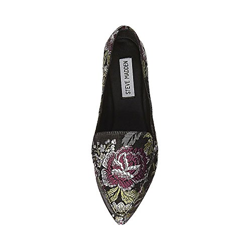 Steve Madden Womens Feather Loafer Flat Floral Multi