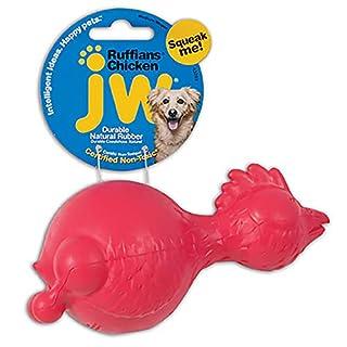 JW Pet Company Ruffians Chicken Dog Toy, Medium (Colors Vary)