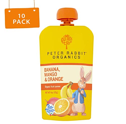Peter Rabbit Organics Mango, Banana and Orange Snacks, 4-Ounce (Pack of 10) (Best Way To Invest 3k)