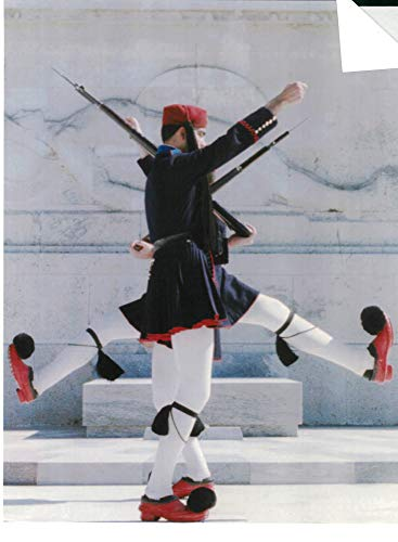 Vintage photo of Skirted Evzones of the Greek Presidential Guard. ()