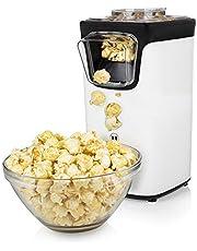Maszyna do popcornu Princess 292986 - pyszna przekąska bez użycia oleju - miarka w zestawie - popcorn gotowy w 3 minuty - możliwość bieżącego uzupełniania ziarna - moc 1100 W