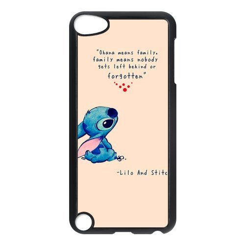 (Custom Case Lilo & Stitch Design Hard Case High-quality Cover For Ipod Touch 5 ipod5-NY1212)