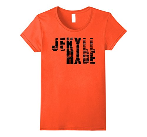 Womens Dr. Jekyll Mr. Hyde Cool Graphic Text Design Tshirt Medium (Dr Jekyll And Mr Hyde Costumes)