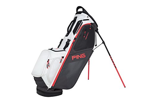 Ping 2018 Hoofer 14 Carry Stand Golf Bag, Graphite/White/Electric Crimson